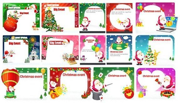 christmas cards en vectores