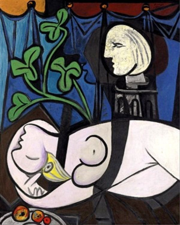 Pablo_Picasso-Nude_Green_Leaves_and_Bust_1932-pinturas-costosas